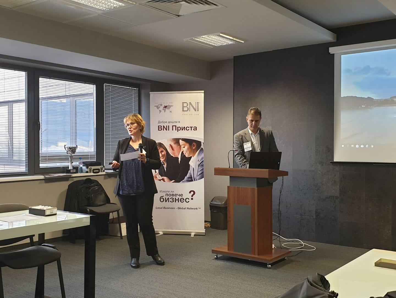 Rositsa Velikova presented Access consulnatcy to BNI Prista - Ruse